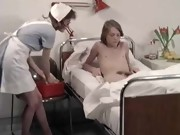 Nurse sex video. Nurse sucked his patient. Hot nurse with big tits.